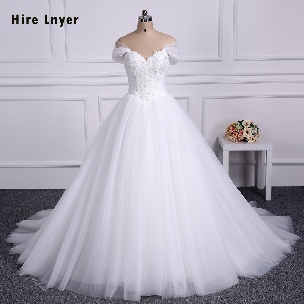 Najowpjg 2017 new arrive luxury chapel train ball gown for Fully beaded wedding dresses