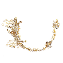 Hot Fashion Pearl Wedding Jewelry Hair Accessories For Women Bridal Headband Flower Tiara High Quality Headpiece
