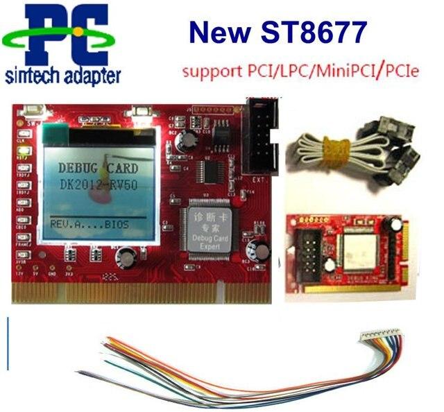 pc pci mini pci-e,LPC port diagnostic test debug king post card for laptop and desktop