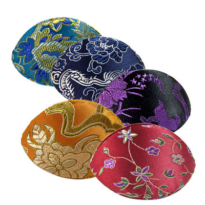 Cheap Small Jewelry Boxes for Rings Only Silk Brocade Colorful