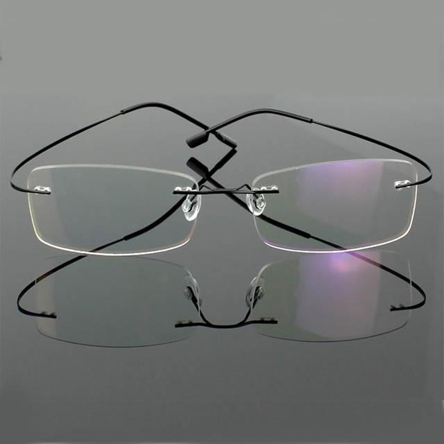 36b1b726cd placeholder Hingeless Rimless Flexible Eyeglasses Unisex Frame Prescription  Glasses 9 Colors Metal Ultra light