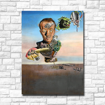 Wxkoil Salvador Dali  Portrait of Paul Eluard Canvas Wall Pictures for Living Room Office Bedroom Modern Canvas Oil Painting 3