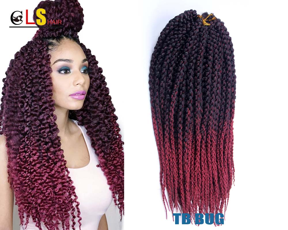 3 Inch Hairstyles: 22Inch 3D Cubic Twist Crochet Braids Curly Hair Extensions