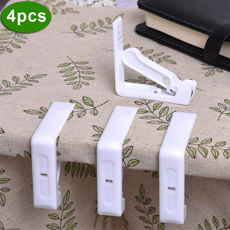 4Pcs/Set Practical Tablecloth Clip Plastic Stainless Steel Spring Table Cover Holder For Wedding Party Picnic Clamp Tool LB88