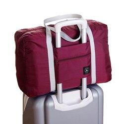 حقيبة سفر كبيرة قدرة الرجال اليد الأمتعة السفر حقائب قماش النايلون نهاية الأسبوع أكياس متعددة الوظائف النساء السفر أكياس 4 ألوان