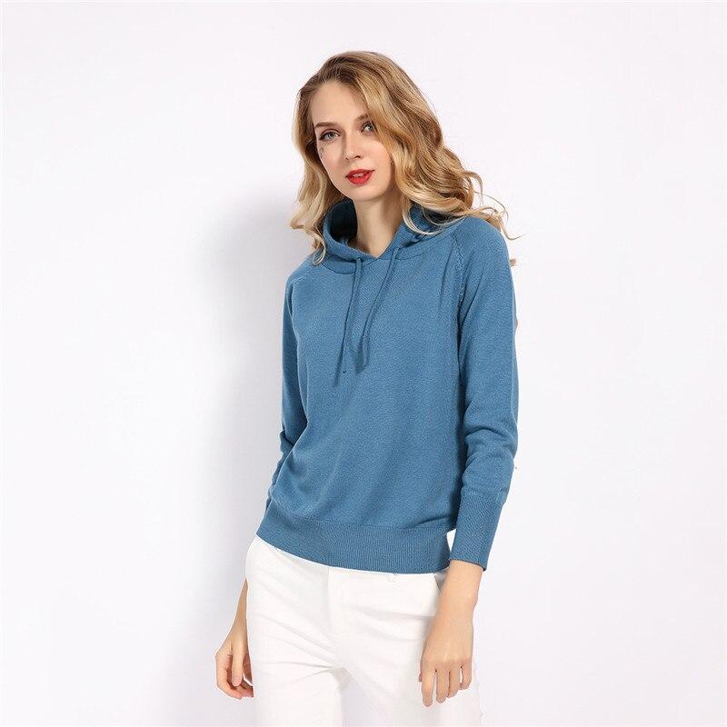 GCAROL Fall Winter Girls Knit Pullover 30% Wool Hooded Sweater High Street Candy Women Render Knit Jumper Knitwear 8