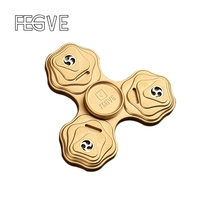 2017 New FEGVE Fidget Spinner Hand Spinner Finger Tri Spinner Metal Copper EDC Fidget Toy Stress