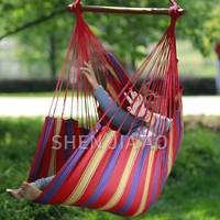 Cotton Colorful Hanging Chair Swing Chair Outdoor Adult Child Hanging Chair Home Entertainment Canvas Hammock 1PC