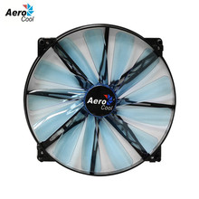Aerocool Lightning 200mm Fan Computer Case Cooling Fan 200 mm Blue Edition DC 12v 3 Pin&4 Pin Silent Fan 200mm For Computer Case