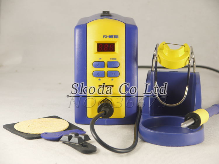 FX-951 Digital soldering station with FM2028 soldering iron+T12 soldering tips 220v EU plug replace hakko 936 dhl free shipping hot sale 220v hakko fx 888 fx888 888 solder soldering iron station with 10 free tips 900m t