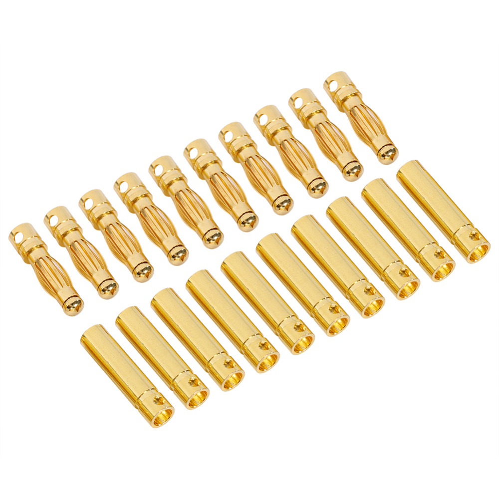 10 pair 4mm Banana Plugs Adapter Shrink Tubing Gold Plated Bullet Connector High Qulaity Adapter Plug