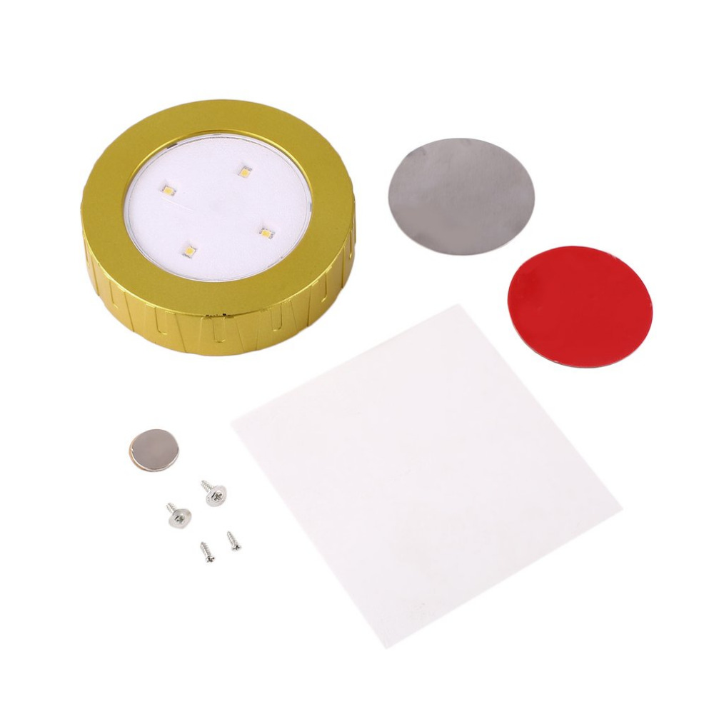 New Round 4.5V Led Cabinet Puck lights 0.3W in Car/Showcase Closet Furniture as Led Accent Spotlight Lamps Drop Shipping