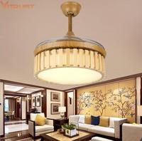 Modern LED Ceiling Fan Lights Wood Lighting Retro light Ventilateur Plafond Fans Nordic 42 inch Living Dining Room Bedroom