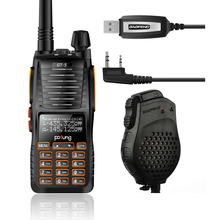 Baofeng GT-5 VHF/UHF 136-174/400-520MHz Dual Band FM Ham Two-way Radio Ham Walkie Talkie with Programming Cable Dual-PTT Speaker