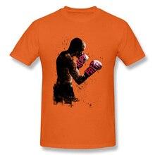100% хлопок Для мужчин короткий рукав последние печати Топы И Футболки оранжевый Camisa Crewneck Футболка Бесплатная доставка с символикой боксерского поединка грейфера игра футболка