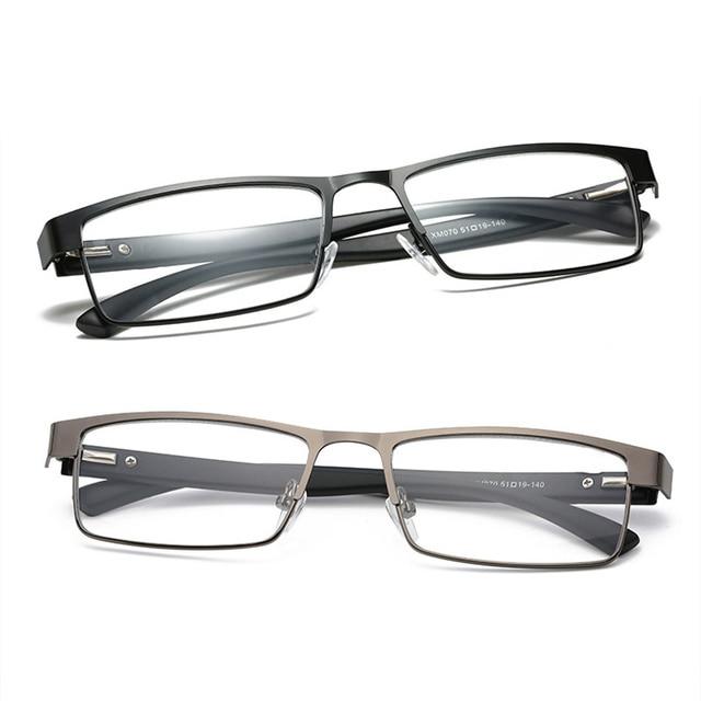 Men alloy Reading Glasses Women Rectangle Coated lenses Business Hyperopia Presbyopic Glasses Prescription Eyeglasses
