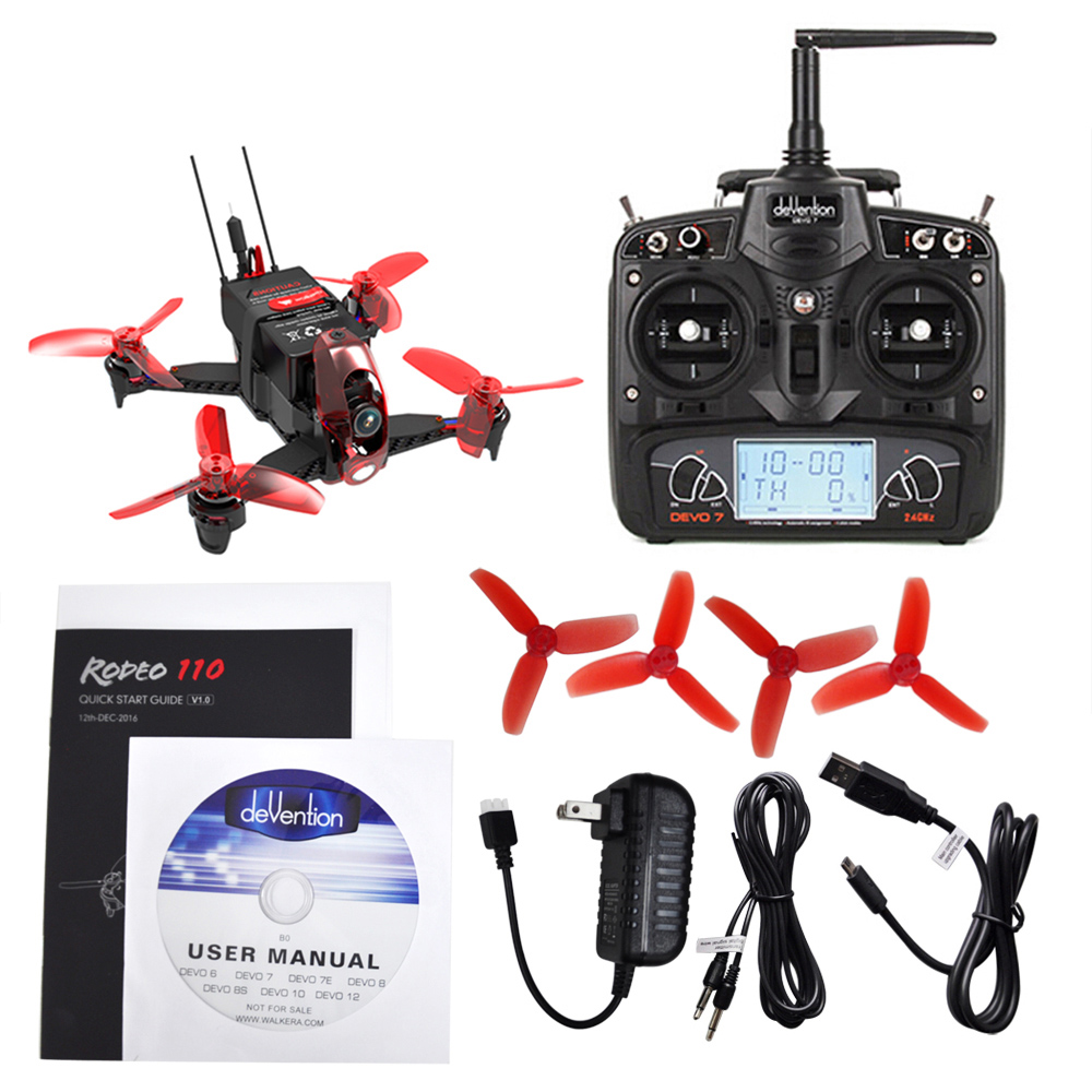 New Walkera Rodeo 110 RC Drone Camera 110mm Mini Dron FPV Racing Quadcopter RTF 5.8G 600TVL 2.4GHz 7CH 6-Axis Gyro / F3 FC Toys original walkera devo f12e fpv 12ch rc transimitter 5 8g 32ch telemetry with lcd screen for walkera tali h500 muticopter drone