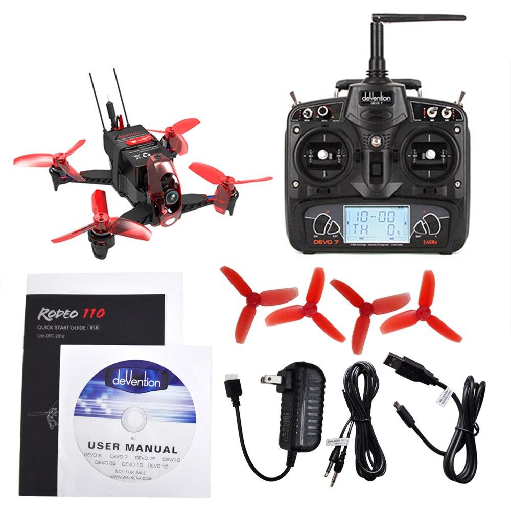 New Walkera Rodeo 110 RC Drone Camera 110mm Mini Dron FPV Racing Quadcopter RTF 5.8G 600TVL 2.4GHz 7CH 6 Axis Gyro / F3 FC Toys