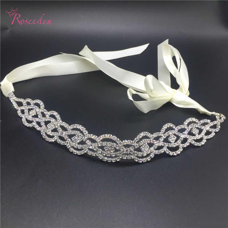 Tocado nupcial para boda a la moda trajes de fiesta romántica diadema de diamantes de imitación de cristal accesorios para el cabello de alta calidad RE683