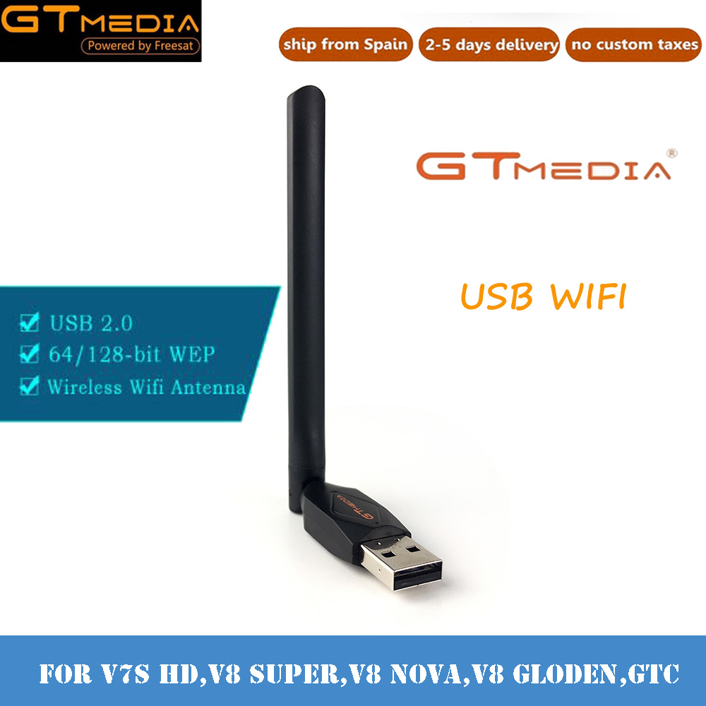 Free Driver Wireless USB Wifi Adapter 150M Lan USB Ethernet 2.4G GTmedia Band Wi-Fi Wifi Dongle 802.11n/g/b for satellite TV box