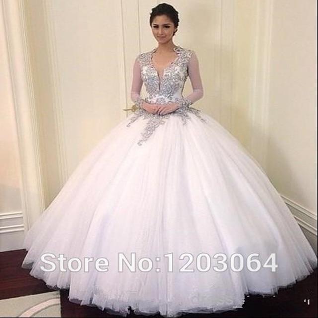 Sexy Bling Princess Wedding Gown 2017 Vestidos Noivas Cap Sleeves