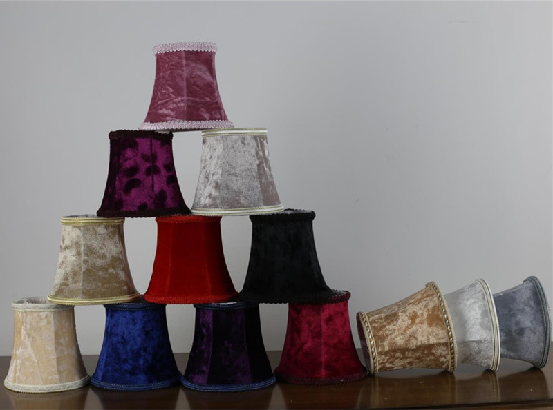 Trendy purple red blue white pink flannel cloth lamp shades glass trendy purple red blue white pink flannel cloth lamp shades glass wall lampcandle bulb lampshade chandelier mini light cover in lamp covers shades from aloadofball Gallery