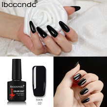 Ibcccndc 10ml Pure Black Nail Gel Varnish 80 Colors UV Gel Nail Polish Nail Gel Long-Lasting Manicure Gel Polish Lacquer 1-30(China)