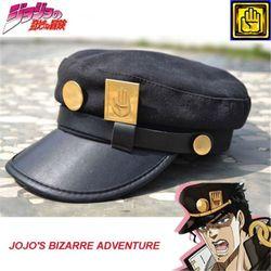 Аниме JoJo невероятное приключение Джотаро Кудзе Джозеф военный JOJO Кепки шляпа + значок Костюмы для косплея аниме Бесплатная доставка
