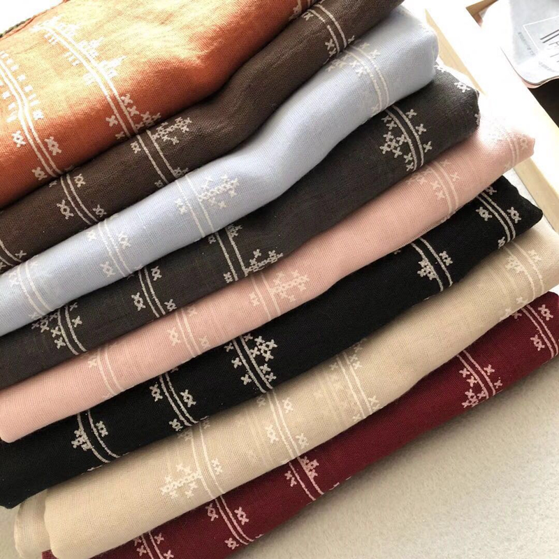 2018 new scarf vintage striped pattern scarves shawls tassel print long shawl women popular muslim hijab scarfs fashion muffler