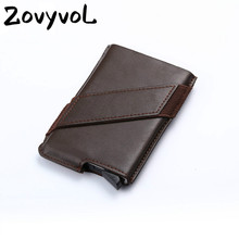 ZOVYVOL 2019  Fashion WOMEN  Business Credit Cards Wallet Card Case Drivers License ID holder Men ID Credit Card Genuine Leather kavis brand cow genuine leather credit card holder 14 card slots men women business card purse id wallet travel for credit cards