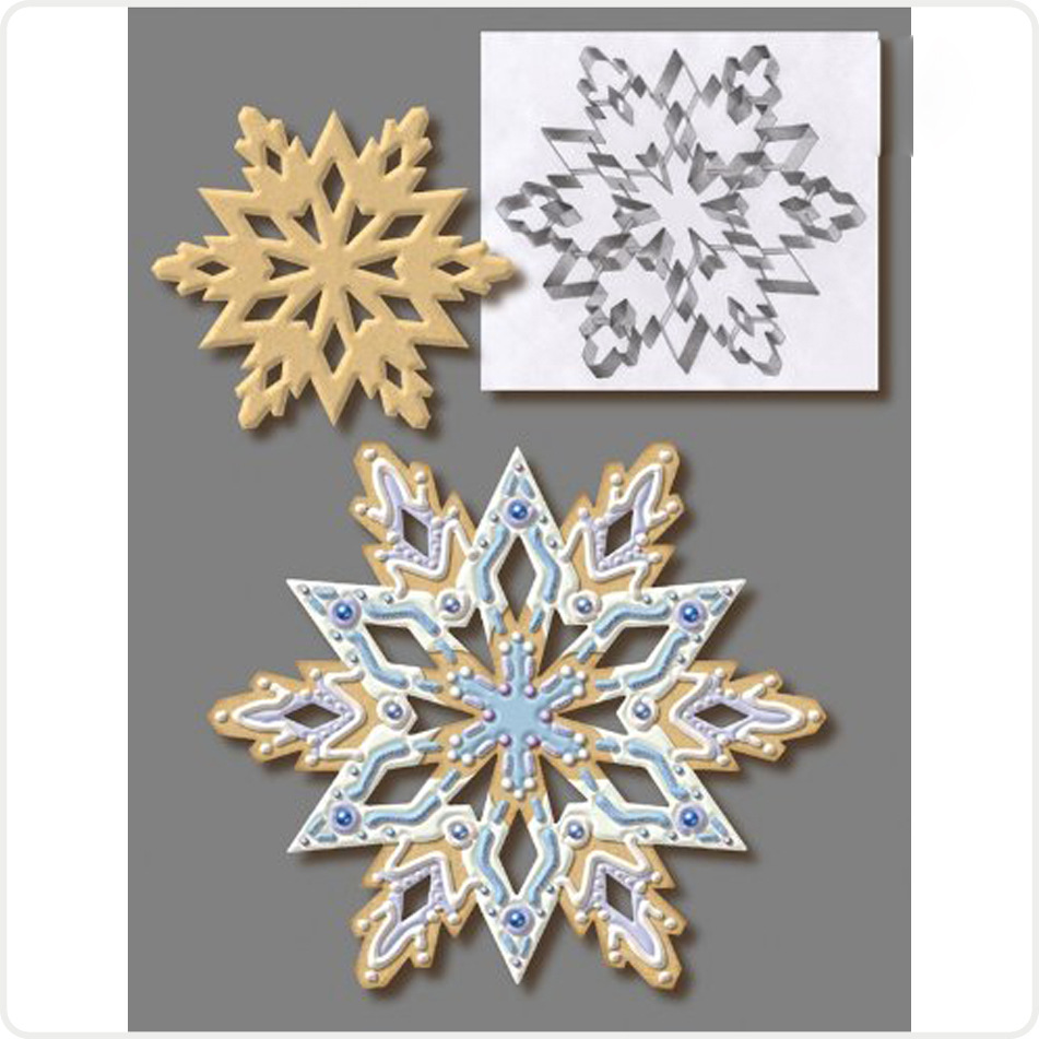 Stainless Steel Christmas Cookie Cutter Snowflake 3D Cookie Mold Biscuit Cutter