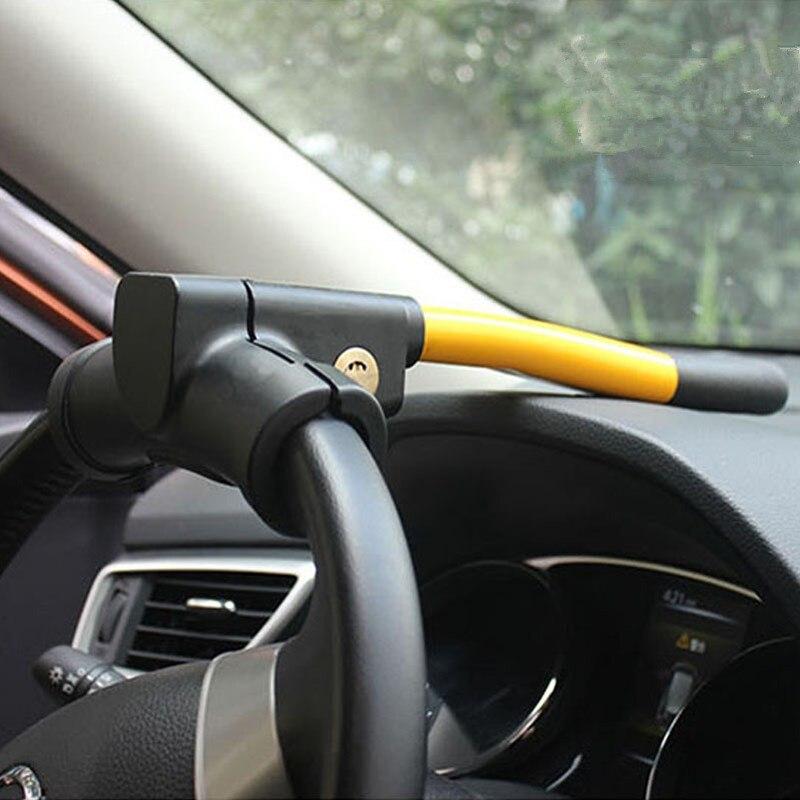 EE Nouveaux accessoires de voiture de qualité T automatique de type antivol volant serrure livraison gratuite XY01