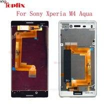 Pour Sony Xperia Aqua LCD E2303 E2333 E2353 écran tactile numériseur avec cadre pour Sony M4 LCD pièces de rechange d'assemblage