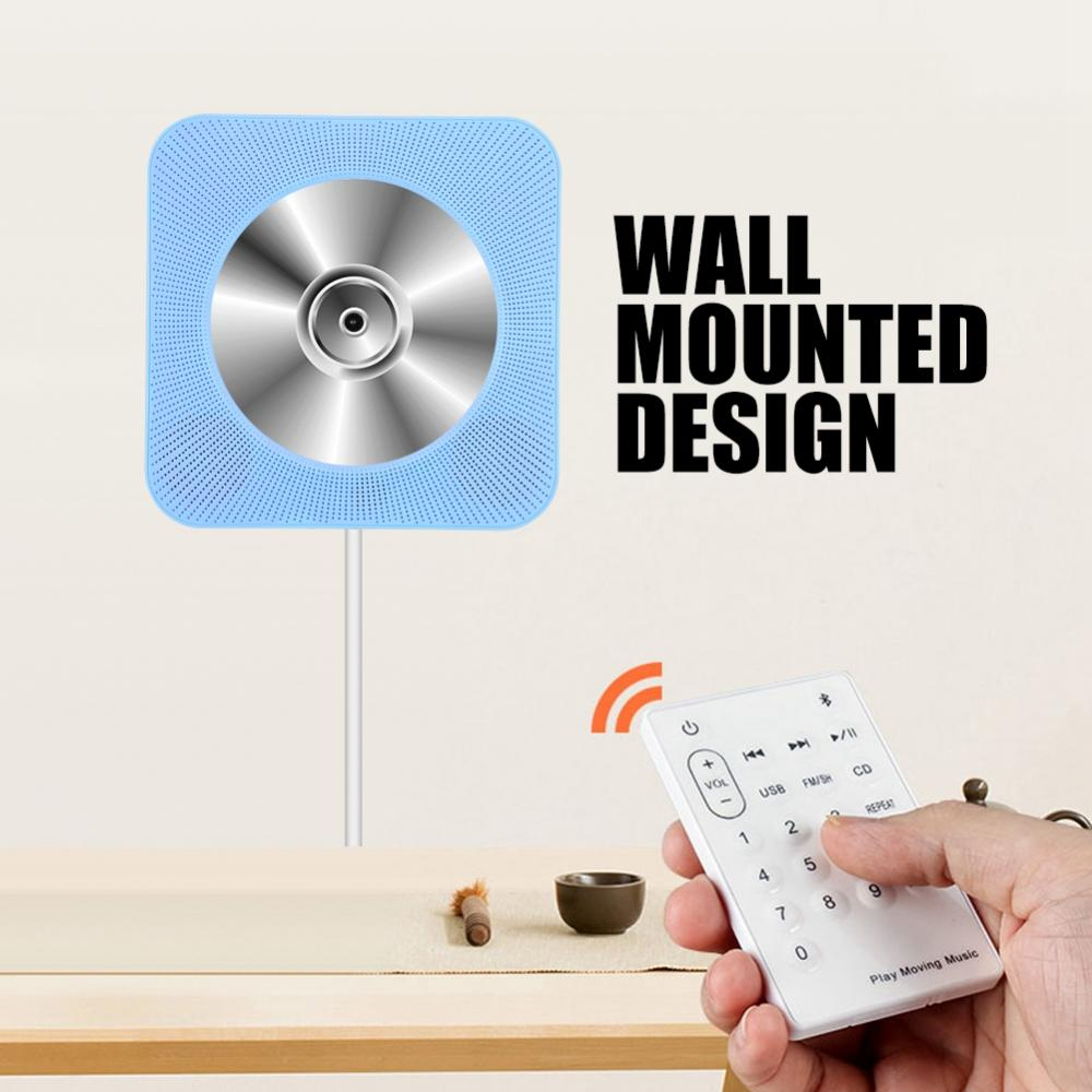 New Wall Mounted Bluetooth CD Player Speaker with Remote Control for EU plug 1 pc new replacement tv remote control for samsung ak59 00172a for dvd blu ray player bd f5700 without battery