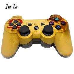 JIELI Беспроводной Bluetooth камуфляж Цвет контроллер для sony Игровые приставки Dualshock 3 PS3 контроллер вибрации геймпад