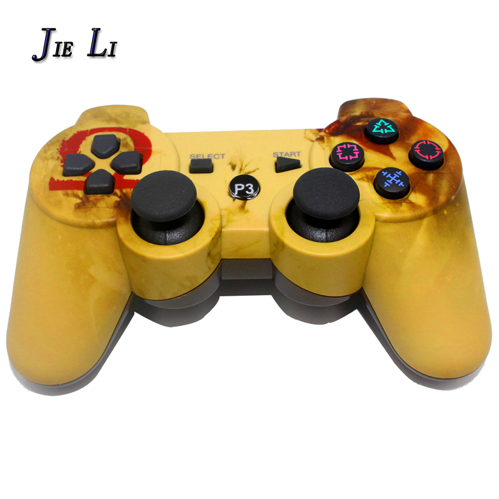 JIELI Bluetooth inalámbrico Color del camuflaje para Sony PlayStation Dualshock 3 PS3 controlador Gamepad vibración