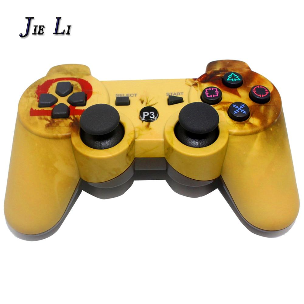 JIELI Bluetooth inalámbrico Color del camuflaje para Sony PlayStation Dualshock 3 PS3 controlador Gamepad vibración