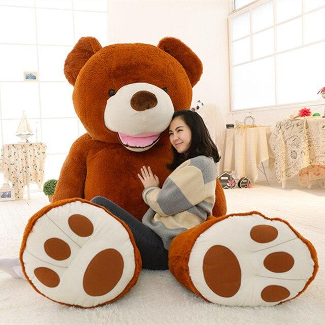 100 260cm oversized teddy bear big bear skin huge american bear