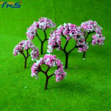 4cm Scale model flower tree for train railroad scenery accessory trees