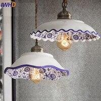 IWHD Ceramic Pendant lights Vintage Industrial Lighting Hang Lamp Home Lighting Restaurant Kitchen Bedroom Hanglamp Lamparas