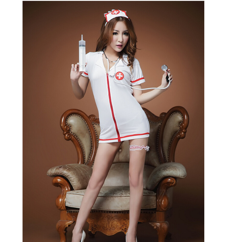 49a68a994bd Ladies Open Front Backless Sexy Costumes Nurse Suit Sexy Lingerie hot Women  Sex Products stripper wear lingerie set-in Lingerie Sets from Novelty    Special ...