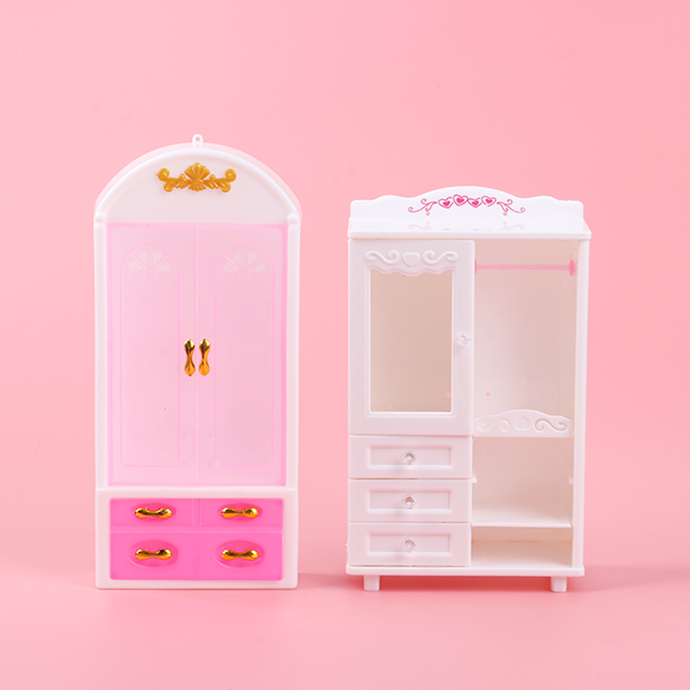 1PC Mini Doll Closet Pink Toys Wardrobe Princess Doll House Furniture Doll  Closet Doll Home Decorate Accessories Child Gifts In Dolls Accessories From  Toys ...