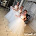 Simples branco / marfim longo cintas de espaguete vestidos de baile com cristais sash para as meninas belo vestido de festa de aniversário de casamento