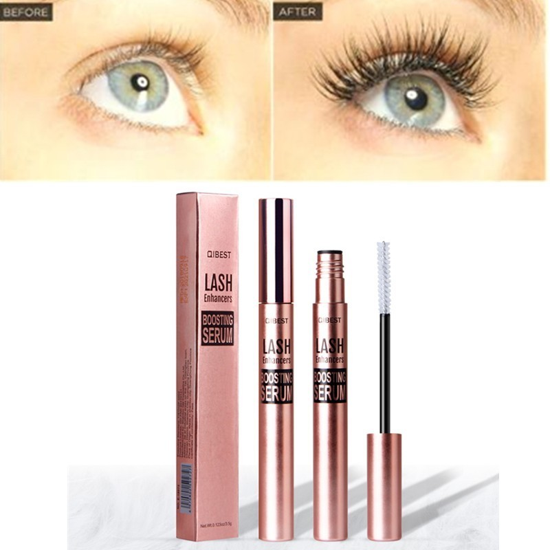 QIBEST Eyelash Growth Treatments Makeup Eyelash Enhancer 8 Days Longer Thicker Eyelashes Eyes Care Eyelash Enhancer DROPSHIPPING
