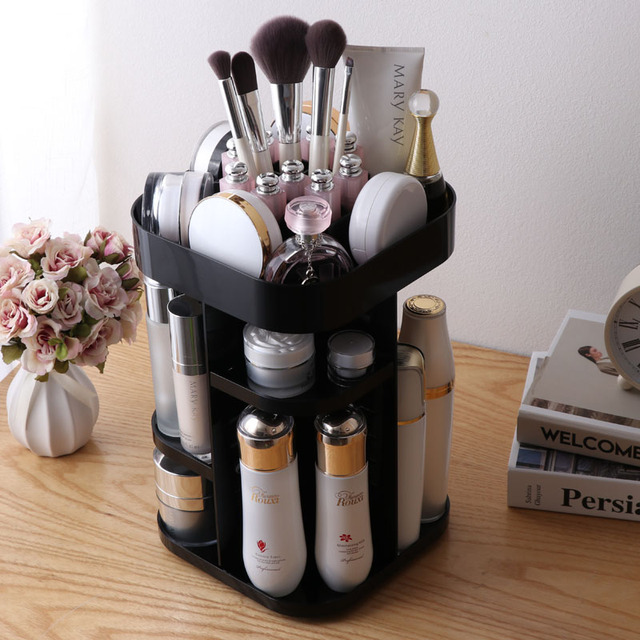 Cosmetic Case Makeup Tool Kits Accessories Rotary Adjustable Space Make Up Brush Shelf Lipstick Skin Care Maquillage Rack