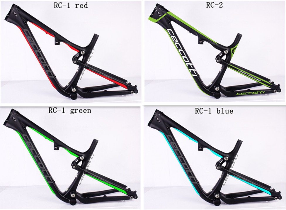 ceccotti Free Shipping 27.5er Full Suspension Frame MTB Bicycle Carbon Frames 650B 142*12 Thru Axle disc brake Mountain frame free shipping 27 5er full suspension frame mtb bicycle carbon frames 650b thru axle disc brake mountain frame
