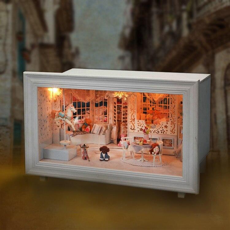 K-002 принцесса Мечта DIY Домик с мебелью свет музыка подарков дом игрушки для девочек детей разведки
