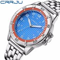 Top Luxury Brand Crrju Fashion Men Watch Quartz Watch Stainless Steel Watch For Man Military Wrist watches Relogio Masculino