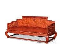 Dreibettzimmer Stuhl mit Cloud-drachen Stripes Palisander 3 sitze Sofa Bett Massivholz Chaise Neue mode Lounge Zimmer Möbel Couch Divan