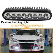 40w 7inch Brighter Mini Size Slim Light Bar Combo Led Work DRL Daytime Running for Motorcycle Reverse Lamp  12v 24v